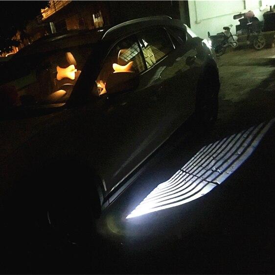 12 V 2 pièces Angle aile fantôme ombre lumière bienvenue lampe voiture LED porte avertissement pour Ford BMW Toyota Fit pour universel voiture lumière