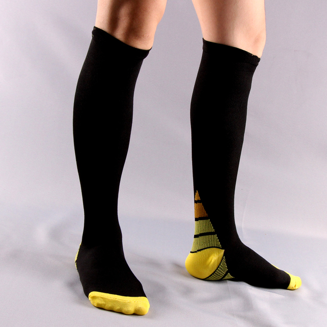 6pair/lot Men and women Compression Socks gradient Pressure Circulation Anti Fatigu Knee High Orthopedic Support Stocking