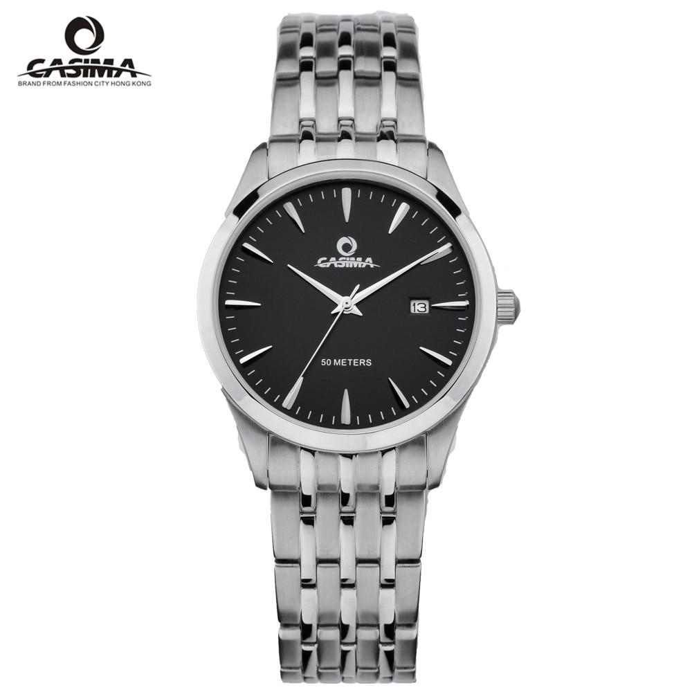 CASIMA Luxury Brand Watch Men Women Couple Lover's Waterproof Casual Black Quartz Wrist Watch Clock Relogio Masculino Feminino
