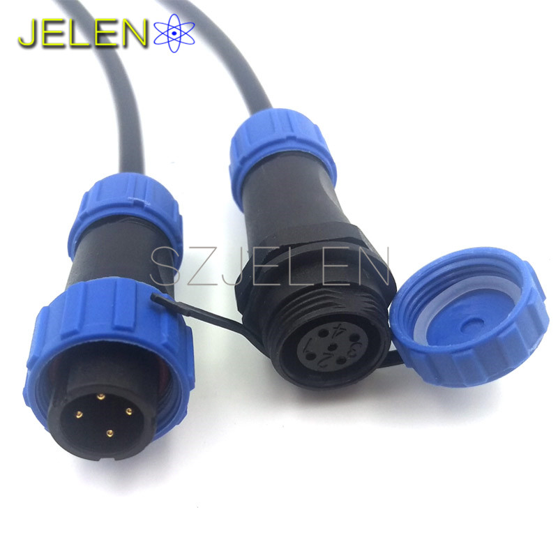 SP13, waterproof 4 pin connector ,Cable connector+In line cable ...