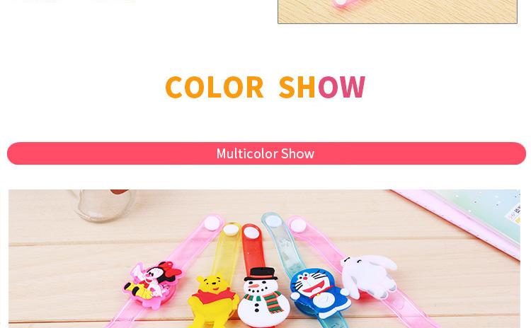 1pcs Cartoon LED Night Light Party Xmas Decoration Colorful LED Watch Toy Boys Girls Flash Wrist Band Glow Luminous Bracelets (2)