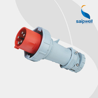Hot sprzedaży 220 V europy środkowo wschodniej/IEC IP67 5 pin 63A gniazdo wtykowe SP 1114 w Złącza od Lampy i oświetlenie na