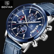 2018 BENYAR Watches Men Luxury Brand Quartz Watch Fashion Chronograph Watch Reloj Hombre Sport Men Wristwatch Relogio Masculino