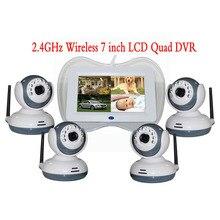 7 Inch 1V4 2.4Ghz Wireless Baby Camera 4CH 4 Picture Display Wireless Monitor Intercom System