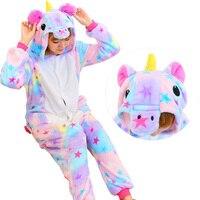 Halloween Autumn And Winter Pajama Sets Cartoon Sleepwear Women Pajamas Christmas Flannel Animal Stitch Panda Unicorn