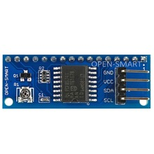I2C LCD 1602 / 2004 Adapter Board Module for Arduino Onboard Contrast Adjustment Potentiometer and PCF8574 8 bit IO Expander