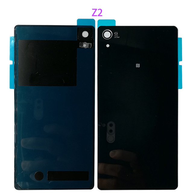 <font><b>Battery</b></font> <font><b>Cover</b></font> For <font><b>Sony</b></font> Xperia Z1 <font><b>Z2</b></font> Z3 New Rear Door <font><b>Battery</b></font> <font><b>Cover</b></font> Back Housing Glass Replacement <font><b>Cover</b></font> With Logo with Glue image