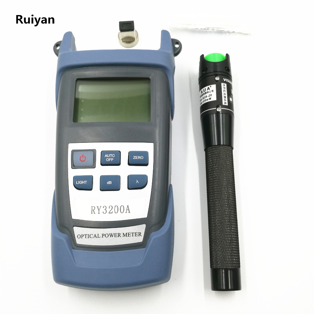 Fiber Optic RY3200A Handle Optical Power Meter-70~+10 dBm and 20km 20mW Visual Fault Locator Fiber Optic Cable Laser Tester