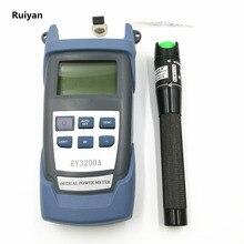 光ファイバry3200aハンドル光学パワーMeter 70〜+ 10 dbmと20キロメートル20メガワット視覚障害ロケータ光レーザーテスター