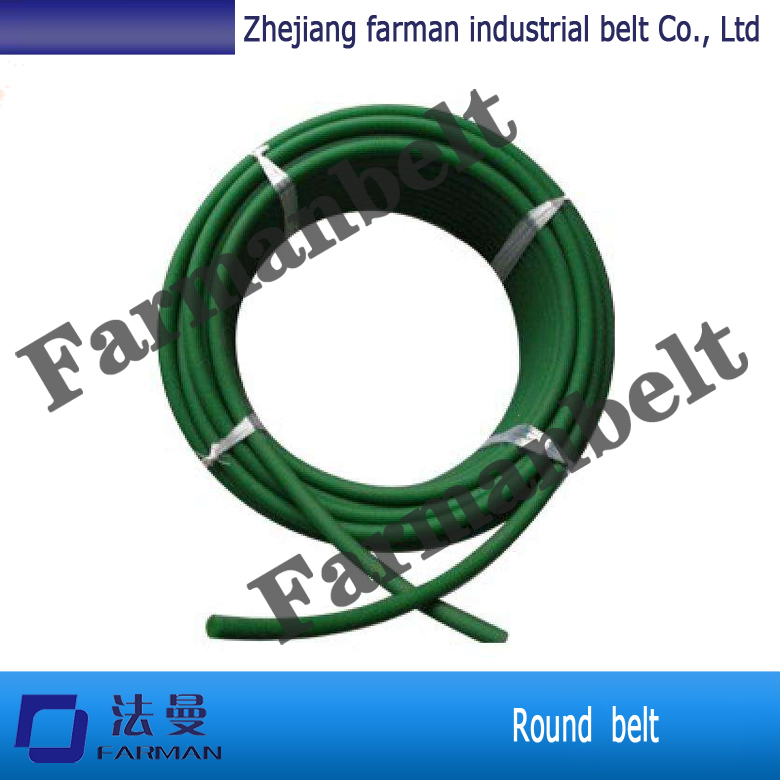 Green PU Polyurethane Round Belt anti static with 3mm - 8mm Textile все цены