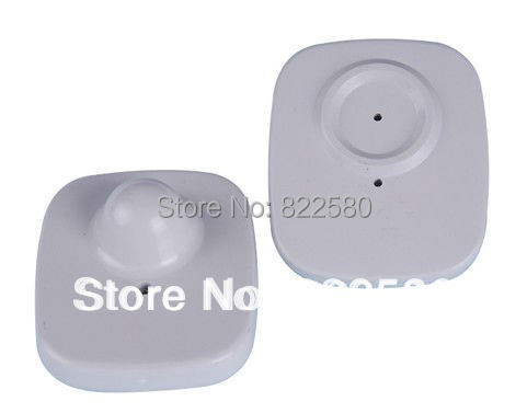 eas rf hard tag,security tag mini square clothes tag rf label 8.2mhz 48*42mm