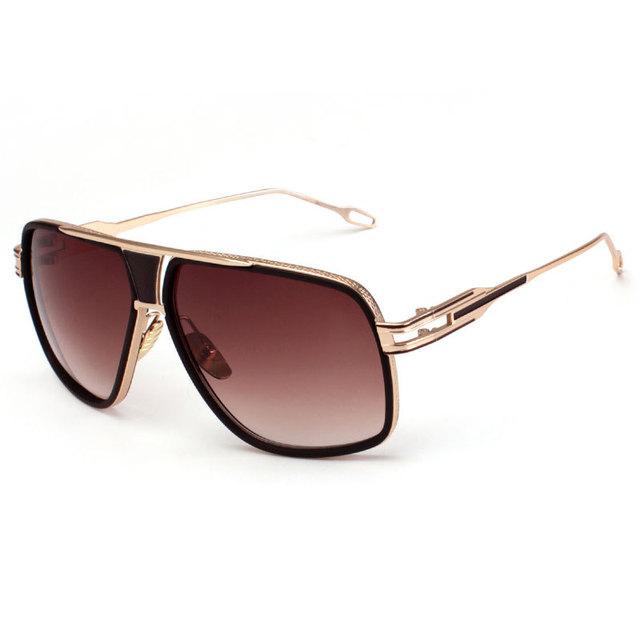 Aviador Óculos De Sol Dos Homens De Ouro De Grandes Dimensões CARAZA Gafas Moda Hombre homens Estilo Cool Óculos de Sol Aviadores Trending Moda Sunwear