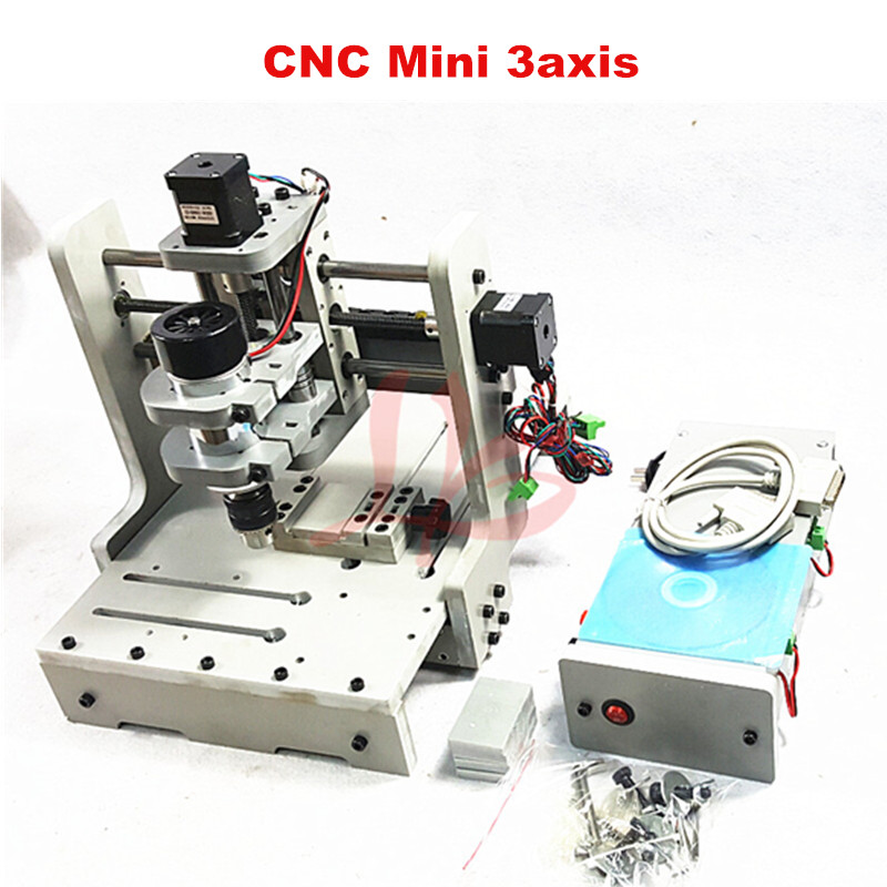 CNC router Mini engraving machine DIY Mini 3axis wood Router PCB Drilling and Milling Machine 4 axis cnc machine cnc 3040f drilling and milling engraver machine wood router with square line rail and wireless handwheel