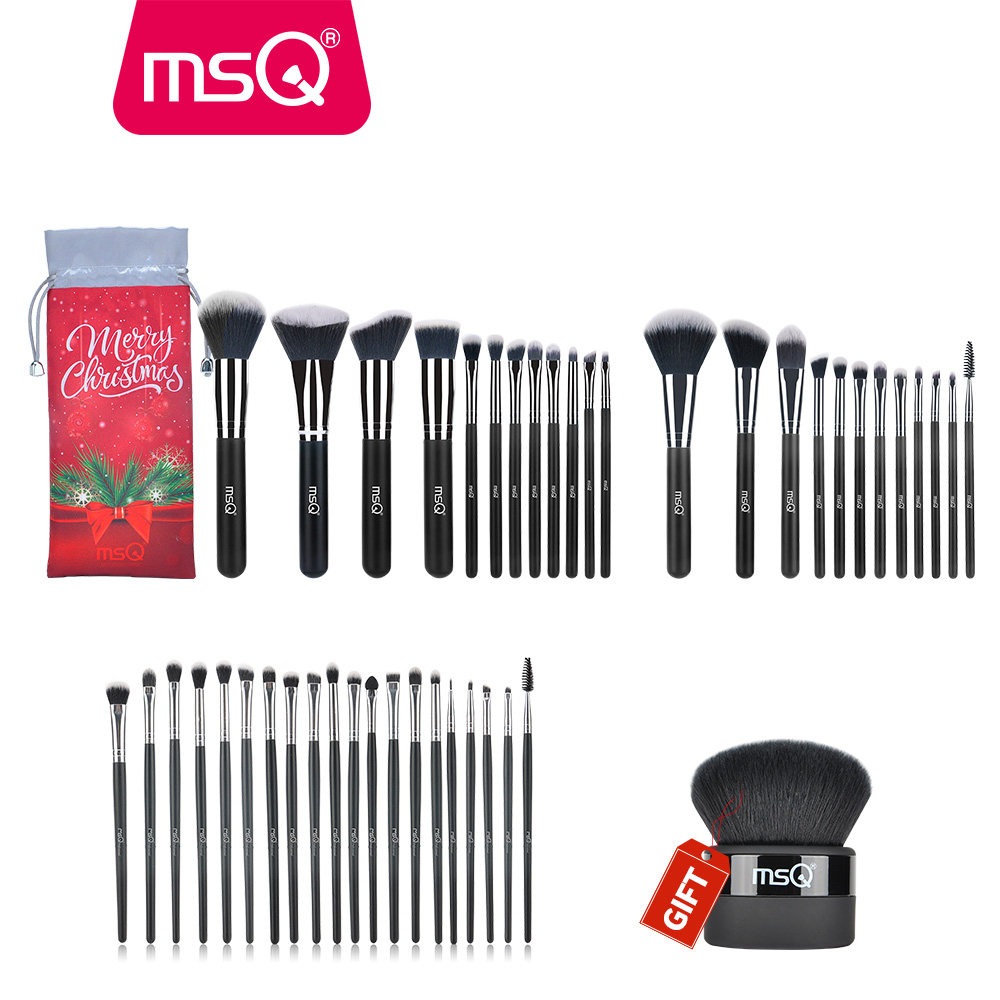 Buy 3 Get 1 Gift MSQ Professional Makeup Brushes Set Foundation Eyeshadow Lip Make Up Brushes High Quality Powder Makeup Brush