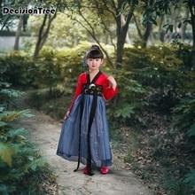 2019 new children chinese traditional hanfu dress girls kids ancient chinese folk dance costumes tang fairy dresses new arrival chinese traditional dance costumes children kids tang folk dance costumes modern national chiffon hanfu for girls