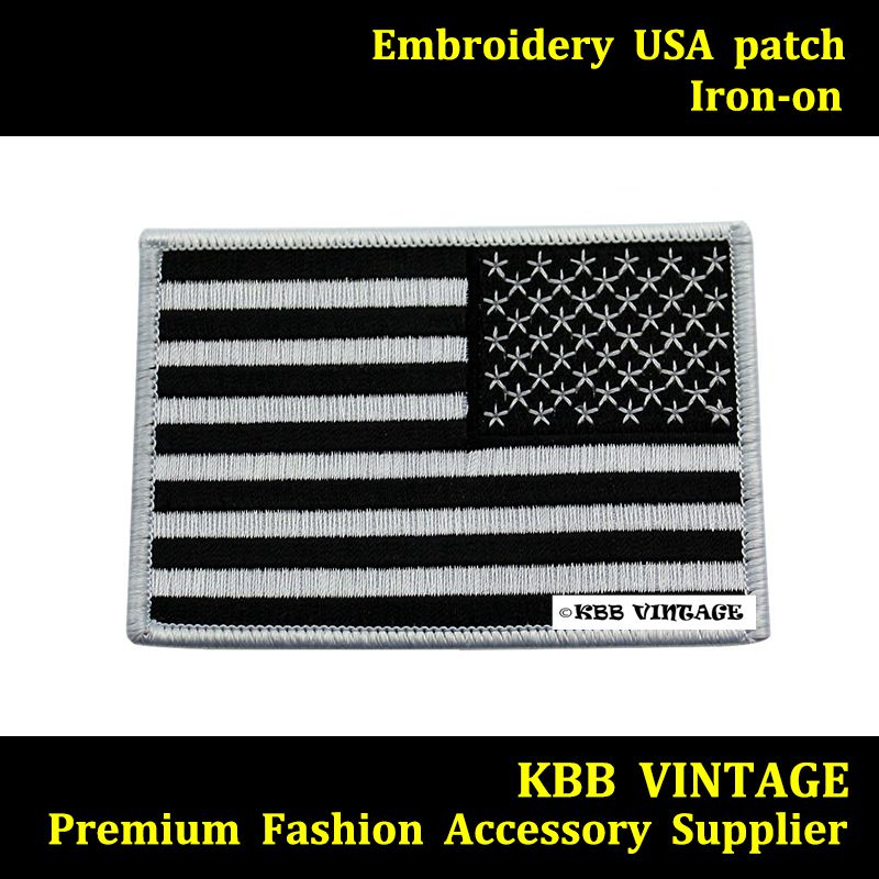 Aliexpress.com : Buy 10p American Flag Embroidered Patch Iron on US ...