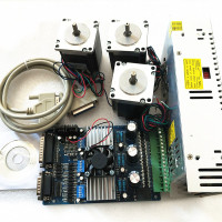 3Axis Nema 23 Stepper Motor 255oz-in & Driver Board TB6560 3.5A+ 220V Power Supply 350W+ CNC KIT/ROUTER