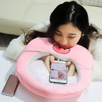 3 in 1 plush pillow with flannel blanket pink pig whale stuffed animal Transparent film Pillow play phone hand warmer