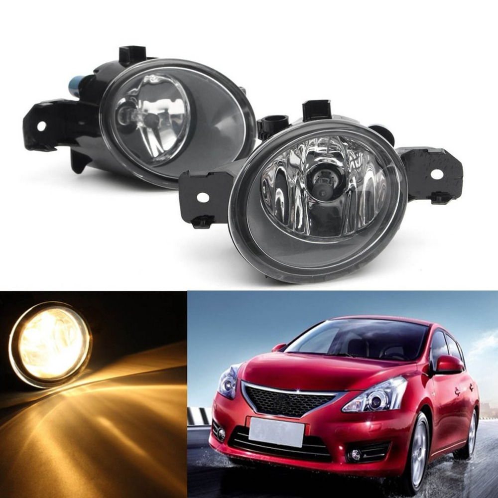 2Pcs H11 Left + Right Front Driving Fog Lights 55W Lamps Headlight with H11 Bulbs For Nissan Altima Maxima Rogue Sentra