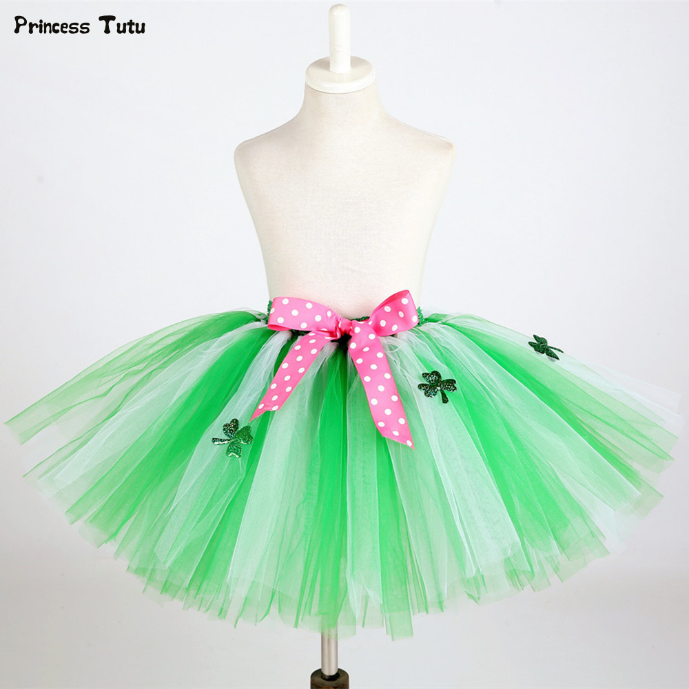 Patricks Day Baby Girls Tutu Skirt Green ST