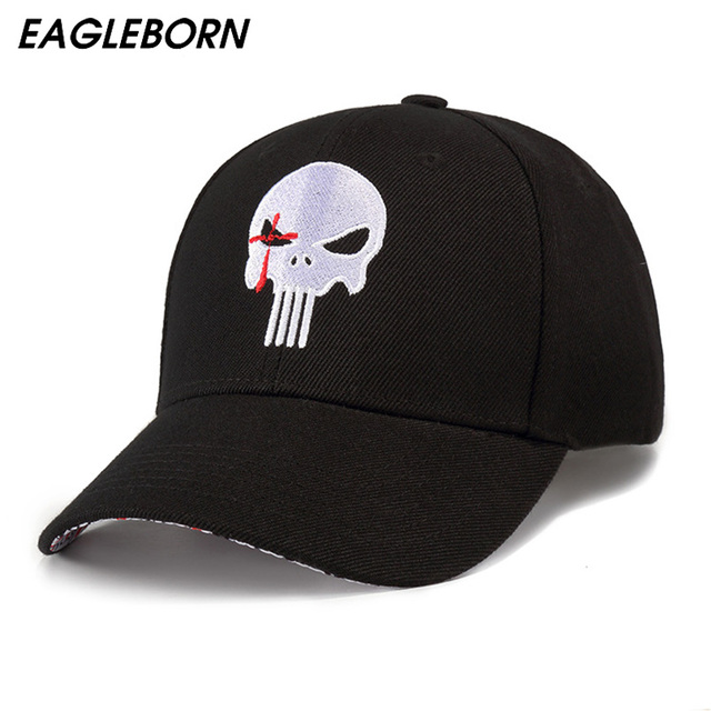 EAGLEBORN Navy Seal Men s Hats and Caps Embroidered Hero US Punisher SKULL  Logo Baseball Cap Snapback Hats Casual Visor Cap hats 7be57061931