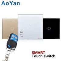 EU UK Standard AoYan 1 2 3 Gang Wireless Remote Control Light Switches Smart Home RF433