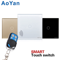EU UK Standard AoYan 1 2 3 Gang Wireless Remote Control Light Switches Smart Home RF433