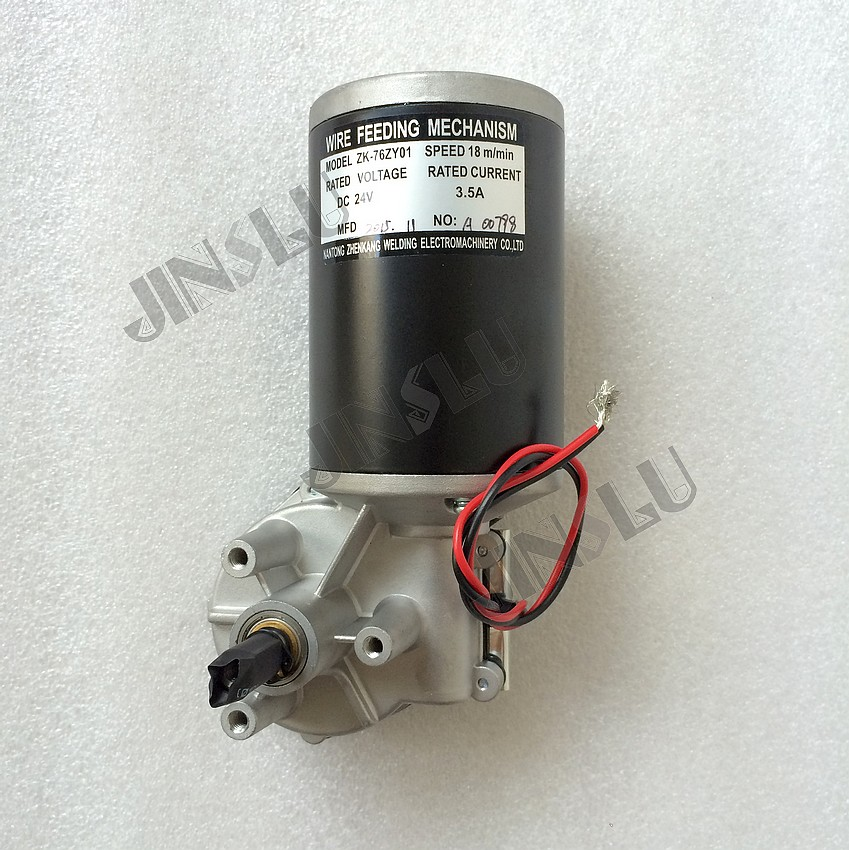 76ZY01 Mig Motor Wire Feed Motor Wire Feeder Motor  DC24 1.8-18m/Min 1PK 24v 0 8 1 0mm zy775 wire feed assembly wire feeder motor mig mag welding machine welder euro connector mig 160 jinslu