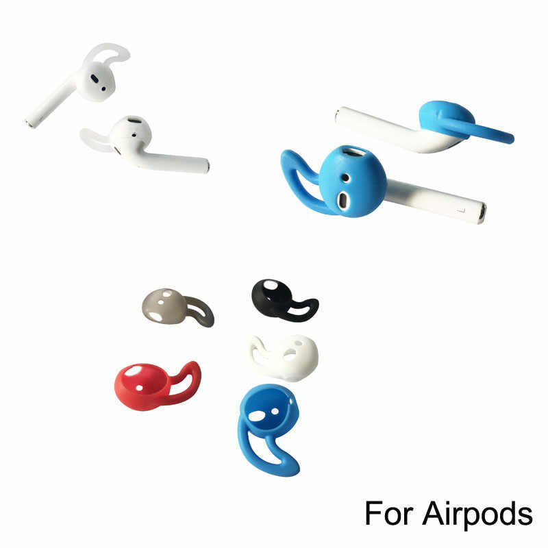 Tws I10 I9s Tws Soft Silicone Antislip Ear Cover Hook Earbuds Tips Earphone Accessories Headphone Case for AirPods EarPods