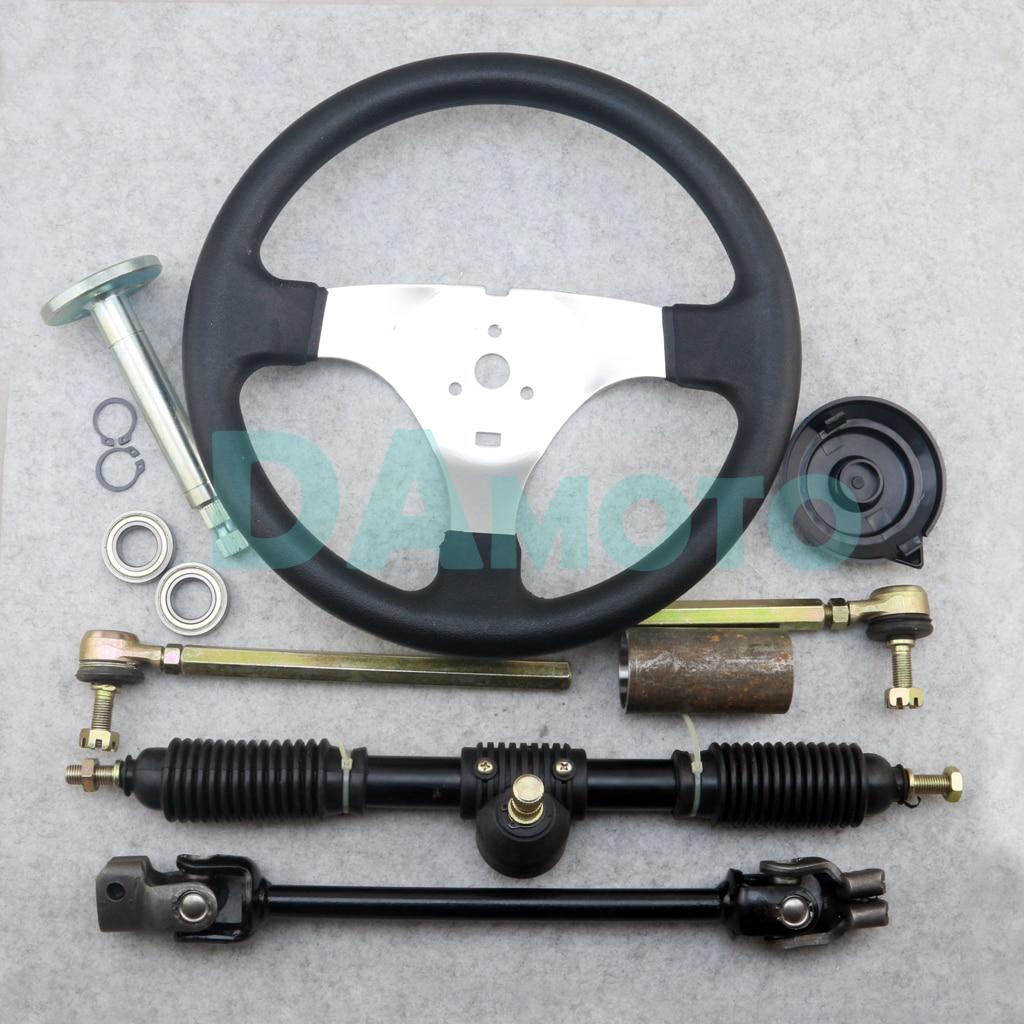 300mm Steering Wheel 320mm Assembly Full Steel Gear Rack Pinion 380mm U Joint Tie Rod Knuckle
