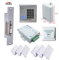 5YOA RFID Access Control System Kit Set + Strike Door Lock + ID Card Keytab + Power + Exit Button