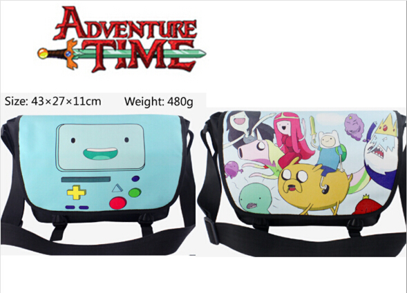 все цены на Anime Adventure Time with Finn and Jake polyester shoulder bag printed w/Jake The Dog онлайн