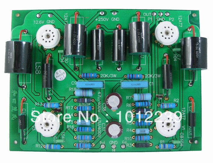 Assembled LS67 tube preamp finished board 5755 tube amplification