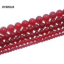 Natural stone beads red agate beads 4mm6mm8mm10mm12mm DIY semi finished wholesale beads for jewelry making xinyao jewelry 40 4 6 810 12 14 diy f364 red agate beads