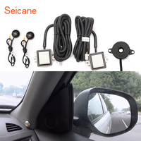 Seicane Car Safety Assistance Warning Buzzer Blind Spot Detection System with 2 Radar Sensor Indicator Light