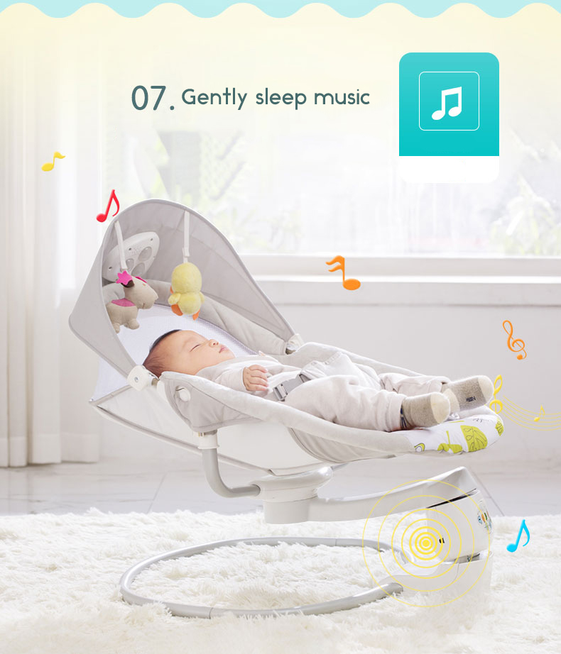 HTB1f7.ZbrSYBuNjSspfq6AZCpXaN Baby rocking chair child electric cradle baby crib recliner chair with  shaking sound baby artifact sleepy bed newborn bed