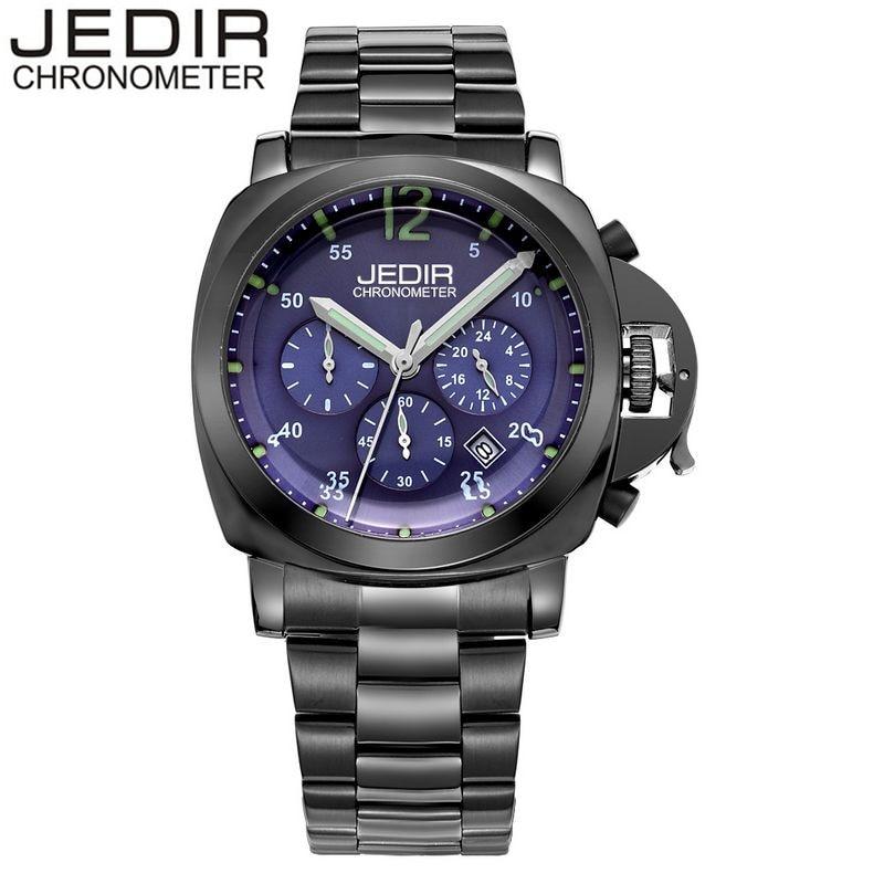 ФОТО JEDIR 2017 New Fashion Men's Day Luminous Hands Watches Male Quartz-watch Wrist Watch Montre Homme Gift Box Free Ship