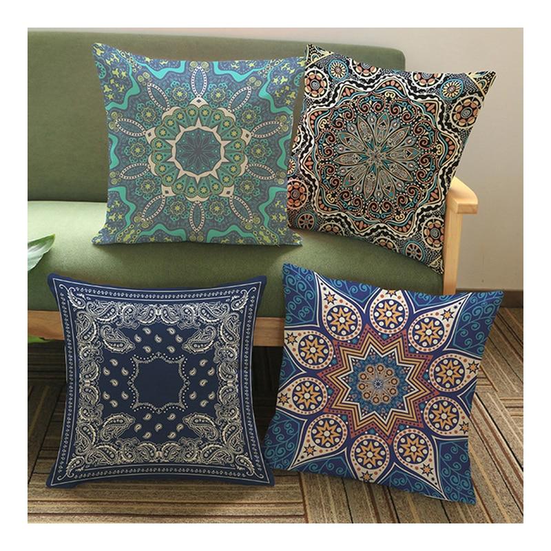 C New Bohemian Pattern Throw Pillow Cover Car Cushion