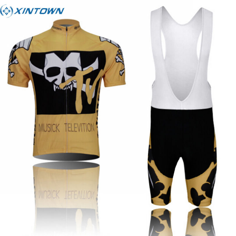 XINTOWN Pro Team Cycling Ropa Ciclismo Bike Short Sleeve Clothing Set Bicycle Men's Wear Suit Jersey Bib Shorts Gold xintown summer breathable mens team short sleeve cycling jersey riding clothing polyester bike set fluorescent shark