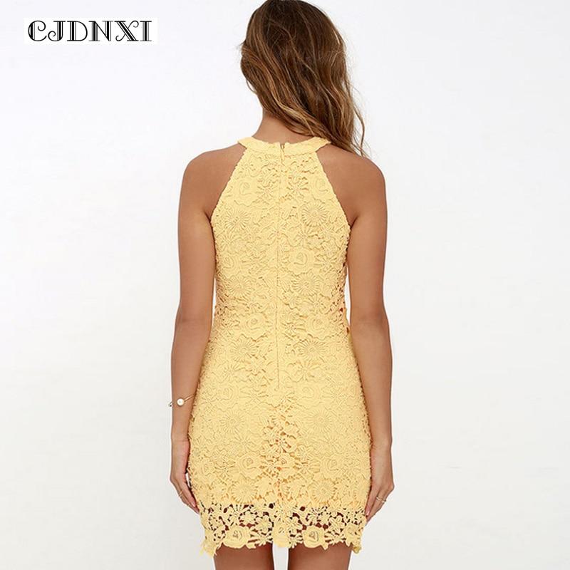 67547febc0a 2018 CJDNXI 5XL Plus Size Women Summer Lace Dress Sleeveless Sexy ...