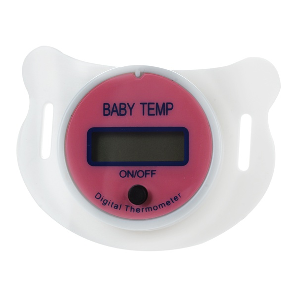 ABWE Infants LED Pacifier Thermometer Baby Health Safety Temperature Monitor Kids Display Centigrade Pink