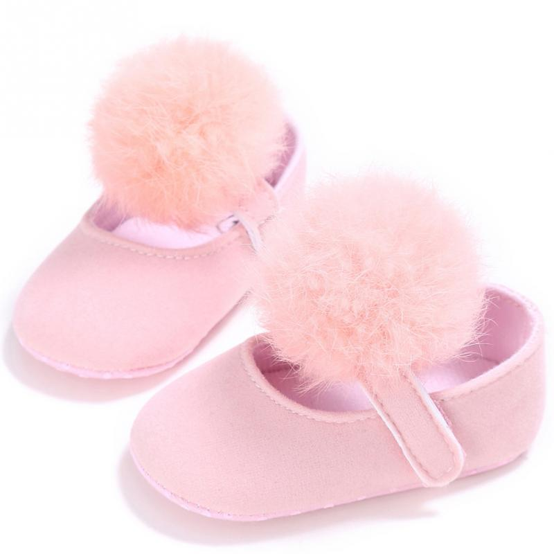 2018 Newborn Baby Girls Cotton Casual Shoes Ball Princess Shoes Crib Shoes Prewalker Anti Slip Shoes