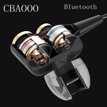 CBAOOO In-Ear Bluetooth Earphones HIFI Sport Stereo Bass Earbuds 4 Speakers Headset Bluetooth 4.1 Wireless Earphone