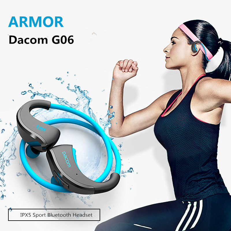 DACOM G06 IPX5 Wireless Headphone Bluetooth V4.1 Headset Sport Stereo Earphone auriculares deportivos with Mic for phone