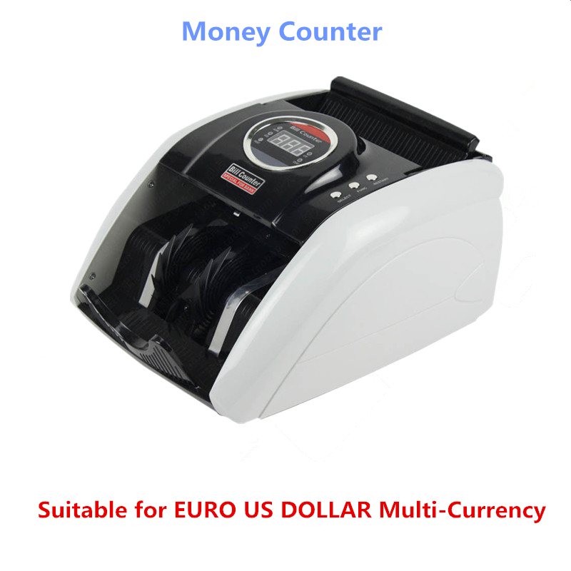 110V/220V Money Counter Suitable for EURO US DOLLAR Multi-Currency Compatible Bill Counter Cash money Counting Machine 5200UV ru us aibecy multi currency cash banknote money bill automatic counter counting machine lcd display for euro us dollar aud pound