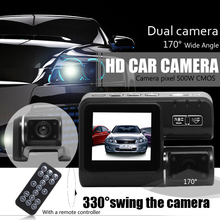 Dual Lens Car Camera i1000 Car DVR Dual Camera HD 1080P Dash Cam Black Box With