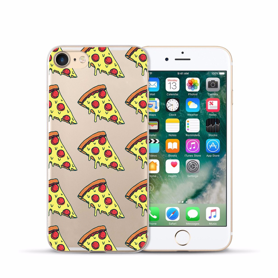 US $0.98 10% OFF|Food Burger Pizza Funny Cartoon Case for Apple iphone 5S 5 SE 7 8 6 6S PLUS X Soft Silicone Transparent Capinha|case a|case pluscase ...