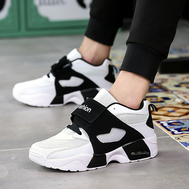 Autumn men casual shoes walking shoes Mesh Comfortable Sneakers breathable thick bottom jogging outdoor shoes male fashion Обувь