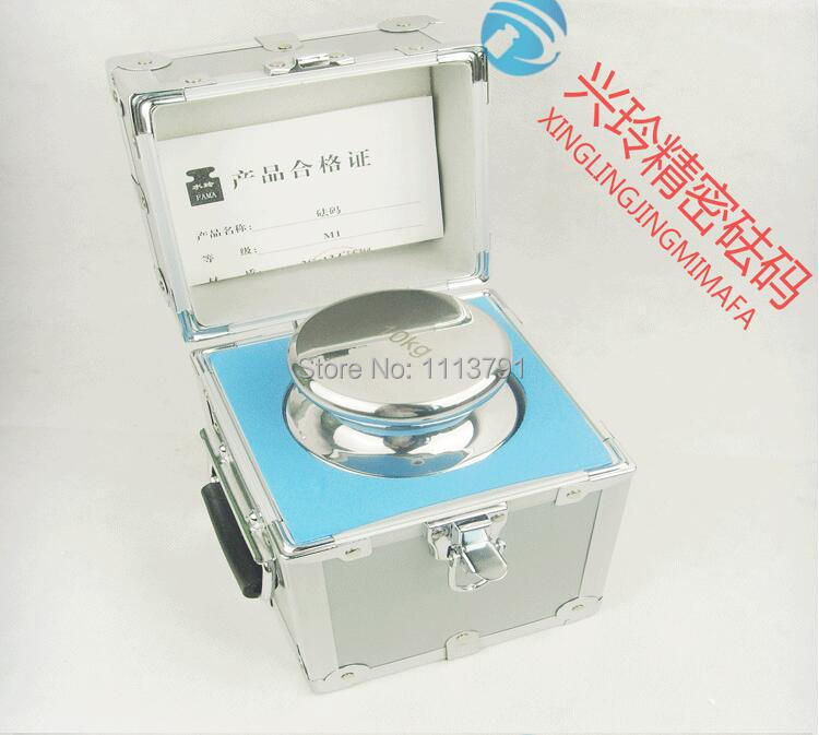 F1 Grade 1 pcs 10kg 304 Stainless Steel Digital Scale Calibration Weights Kit Set w Certificate
