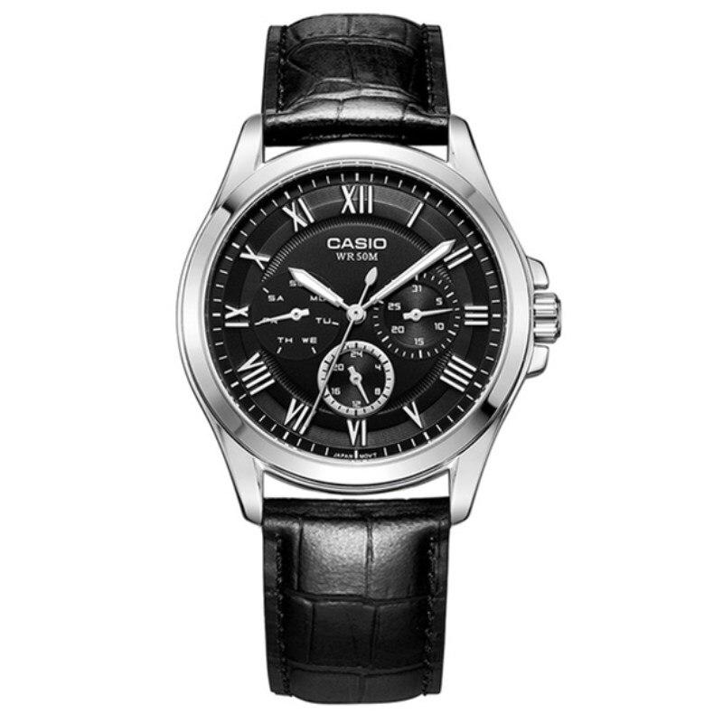Casio Watch Mens Luxury Fashion Casual Watch Men's Quartz Watches Wristwatches Steel Quartz-Watch relogio masculino MTP-E301L-1B casio mtp v006l 1b